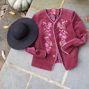 OSCAR DE LA RENTA embroidered corduroy jacket 8